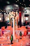 Conjunto hermoso del vector de la boda Concepto de la recepción nupcial Fotos de archivo