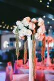Conjunto hermoso del vector de la boda Concepto de la recepción nupcial Foto de archivo