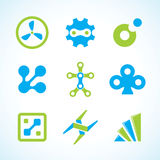 Conjunto industrial abstracto de la insignia del vector Fotografía de archivo