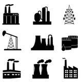 Conjunto industrial del icono Fotografía de archivo libre de regalías