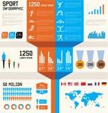Conjunto infographic del deporte Imagen de archivo libre de regalías