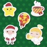Conjunto lindo de la historieta de Navidad Imagen de archivo libre de regalías