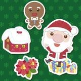 Conjunto lindo de la historieta de Navidad Imágenes de archivo libres de regalías