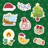 Conjunto lindo de la historieta de Navidad Fotografía de archivo libre de regalías