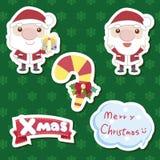 Conjunto lindo de la historieta de Navidad Foto de archivo libre de regalías