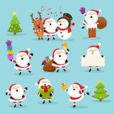 Conjunto lindo de Santa libre illustration
