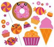 Conjunto lindo del caramelo de azúcar Foto de archivo