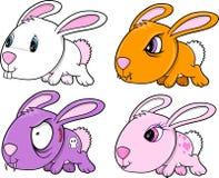 Conjunto lindo del conejo de conejito Imagen de archivo