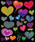 Conjunto lindo del corazón Fotos de archivo