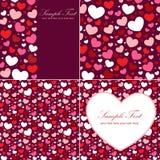 Conjunto lindo del corazón de la tarjeta del día de San Valentín Imágenes de archivo libres de regalías
