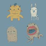 Conjunto lindo del monstruo Imagen de archivo