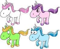 Conjunto lindo del unicornio Fotos de archivo libres de regalías