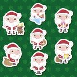 Conjunto lindo del xma de Papá Noel de la historieta Imágenes de archivo libres de regalías