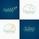 conjunto Logotipo de la limpieza libre illustration