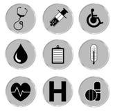Conjunto médico del botón Ilustrador EPS del vector Foto de archivo