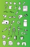 Conjunto médico del icono Fotos de archivo libres de regalías