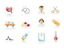 Conjunto médico del icono Fotografía de archivo libre de regalías