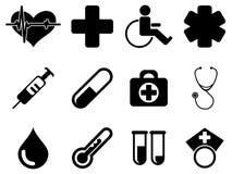 Conjunto médico del icono Ilustración del Vector