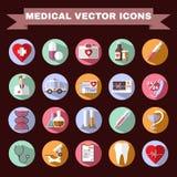 Conjunto médico del icono stock de ilustración