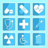 Conjunto médico del icono Imagenes de archivo