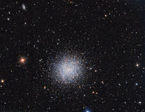 Conjunto M13 globular na constelação Hercules fotos de stock