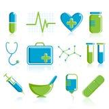 Conjunto médico del icono Imagen de archivo