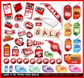 Conjunto mega de la colección de las etiquetas de la venta stock de ilustración