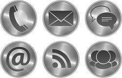 Conjunto moderno con estilo del icono de la comunicación Imágenes de archivo libres de regalías
