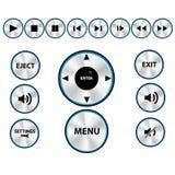 Conjunto moderno del botón del reproductor multimedia del vector Imagenes de archivo