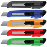 Conjunto multicolor del paperknife del vector Imagen de archivo libre de regalías