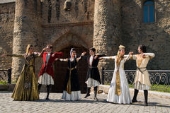 Conjunto nacional de la canción y de la danza de Georgia Erisioni imagen de archivo