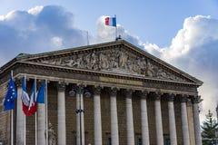 Conjunto nacional na cidade de Paris, França Assemblee Nationale fotografia de stock