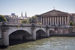 Conjunto nacional Paris imagens de stock