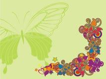 Conjunto ornamental de la flor Imagen de archivo libre de regalías