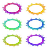 Conjunto oval del marco del abstrakt Imagen de archivo libre de regalías
