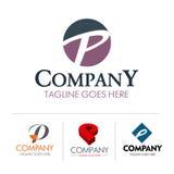 Conjunto P de la letra del logotipo Fotos de archivo