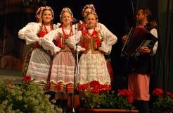 Conjunto polonês da dança tradicional Foto de Stock Royalty Free