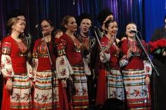 Conjunto popular Kazachya Volnitsa Fotografia de Stock Royalty Free