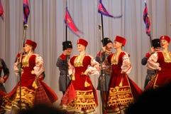 Conjunto popular Kazachya Volnitsa Fotos de Stock Royalty Free