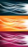 Conjunto puro del fondo de los flujos de energía stock de ilustración