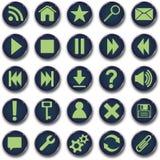 Conjunto redondo del botón de los iconos Imagen de archivo libre de regalías