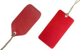 Conjunto rojo de la etiqueta Foto de archivo libre de regalías