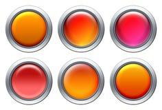 Conjunto rojo del icono Imagen de archivo