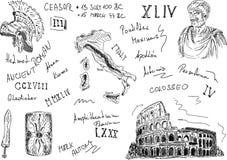 Conjunto romano stock de ilustración