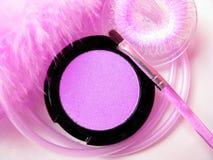 Conjunto rosado del cosmético Fotografía de archivo
