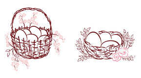 Conjunto -- símbolos de Pascua Fotografía de archivo libre de regalías