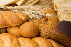 Conjunto sabroso de pan Imagen de archivo