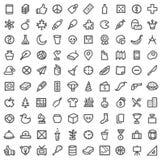 Conjunto simple del icono libre illustration
