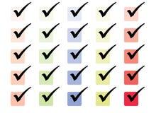 Conjunto simple del rectángulo de la señal Fotos de archivo libres de regalías