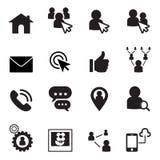 Conjunto social del icono de la red Imágenes de archivo libres de regalías